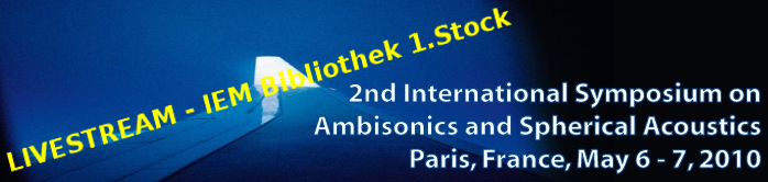 live stream anouncement ambisonics symposium