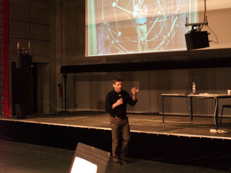 Markus Noisternig at IRCAM moderation the Demonstration